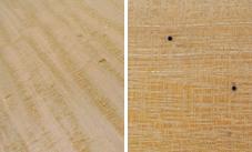 (左)逆目/(右)ピンホール