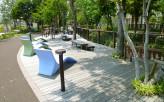 公園で使用されるイペのウッドデッキ